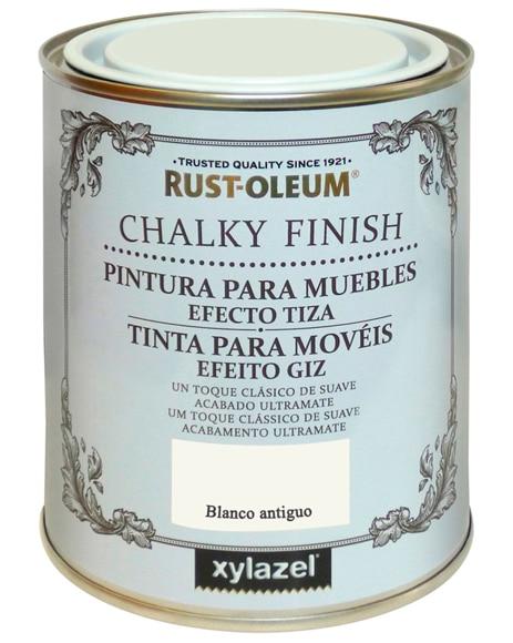 Pintura para muebles 125 ml rustoleum efecto tiza blanco for Como pintar un mueble oscuro en blanco envejecido