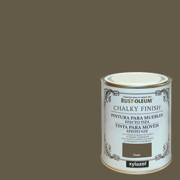 Pintura para muebles 750 ml rustoleum efecto tiza cacao for Leroy merlin pinturas para muebles