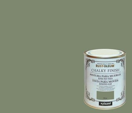 Pintura para muebles 125 ml rustoleum efecto tiza oliva for Pintura para muebles