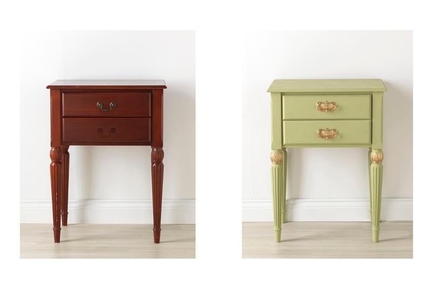 Pintura para muebles 750 ml rustoleum efecto tiza oliva for Pintura muebles cocina leroy merlin