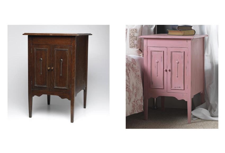 Pintura para muebles 750 ml rustoleum efecto tiza rosa for Pintura para muebles efecto tiza