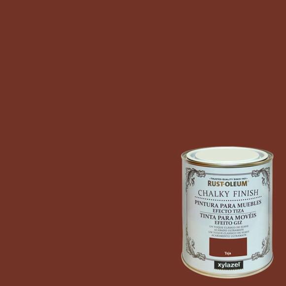 Pintura para muebles 125 ml rustoleum efecto tiza teja ref - Pintura ala tiza leroy merlin colores ...