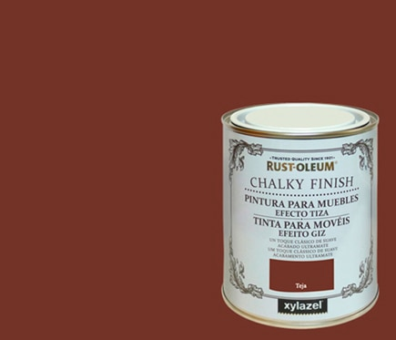 Pintura para muebles 750 ml rustoleum efecto tiza teja ref - Pintura para muebles ...