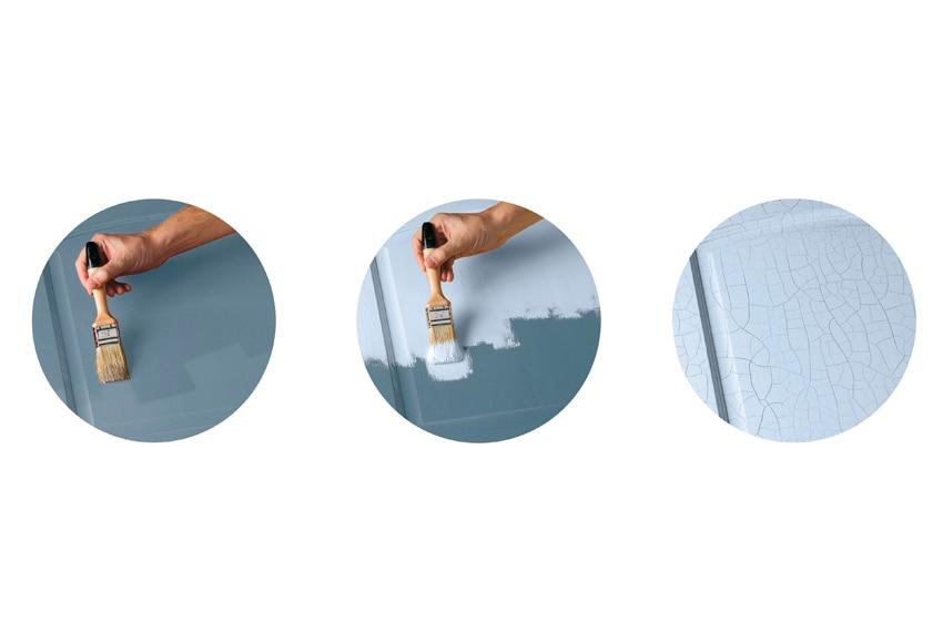 Pintura para muebles 500 ml les decoratives kit pintura - Muebles craquelados ...