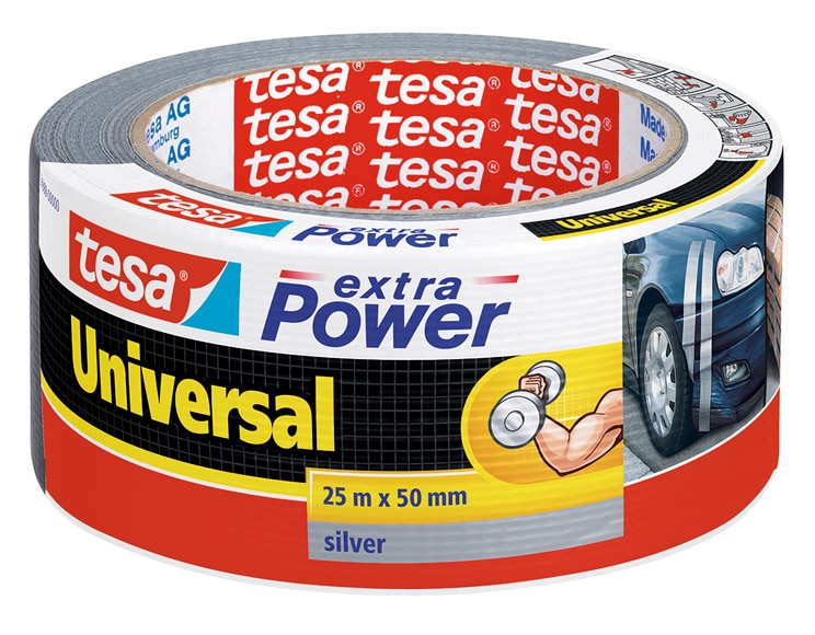 cinta de reparaci n tesa tape extra power gris 25m x 50mm