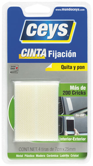 Cinta de doble cara tackceys crick anclaje quita pon ref - Como quitar cinta adhesiva doble cara de la pared ...