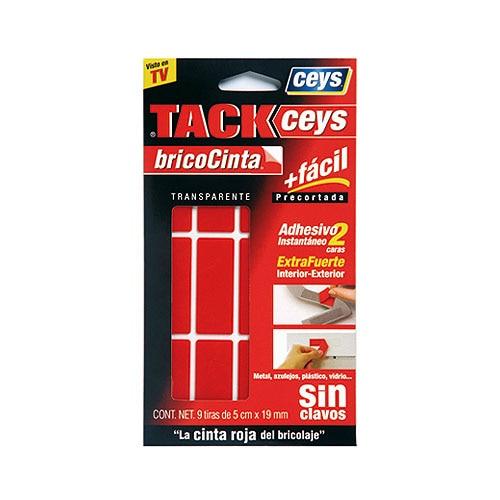 cinta adhesiva de doble cara en tiras tackceys bricocinta