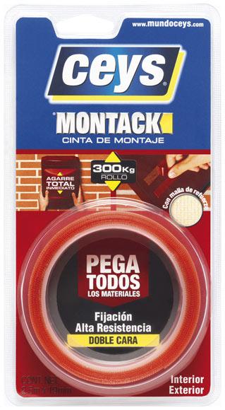 Cinta De Doble Cara Montack Express Montack Express 25m X 19mm Ref