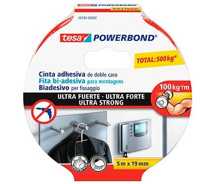 Cinta adhesiva de doble cara tesa tape powerbond 5mx19mm - Cinta doble cara tesa ...