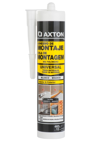 Aparador Cozinha ~ Adhesivo de montaje en cartucho Axton MS POL u00cdMERO BLANCO Ref 16715790 Leroy Merlin