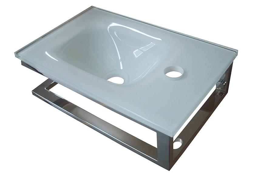 Lavabo de ba o soporte serie mini ref 15480913 leroy merlin - Soporte para lavabo ...