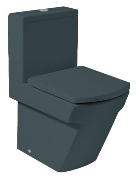 Pack de wc con salida a suelo o pared roca hall grafito - Colores sanitarios roca ...