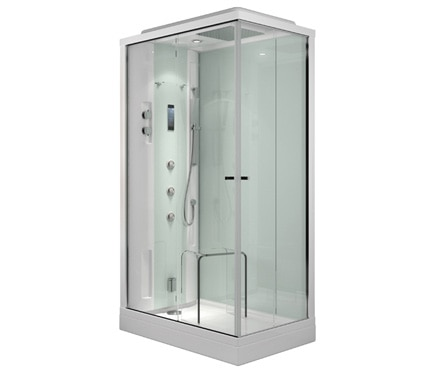cabina de hidromasaje con sauna evoclass. Black Bedroom Furniture Sets. Home Design Ideas