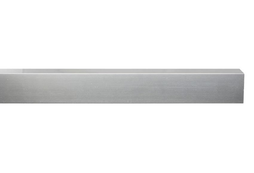 Perfil de mampara cuadrado cromo ref 14972034 leroy merlin for Perfil u aluminio leroy merlin