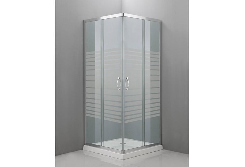 Mampara de ducha cuadrada mitto cuad cr sg ref 16287236 - Biombos de ducha ...