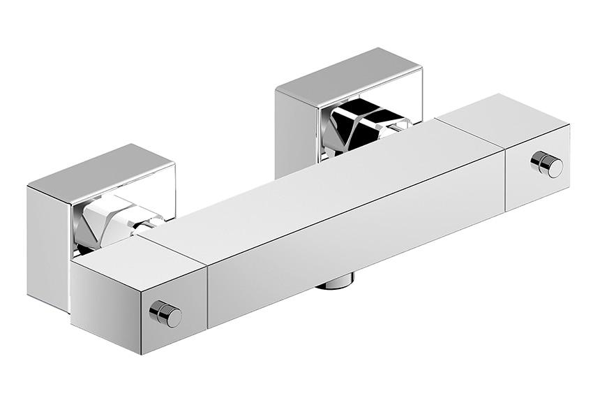 Grifo termost tico de ducha osmos cromo ref 16082745 - Grifo termostatico leroy merlin ...