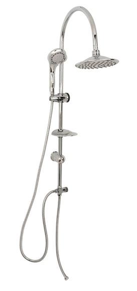 Combinado de ducha sin grifo tulum ref 14625786 leroy - Combinados de ducha ...