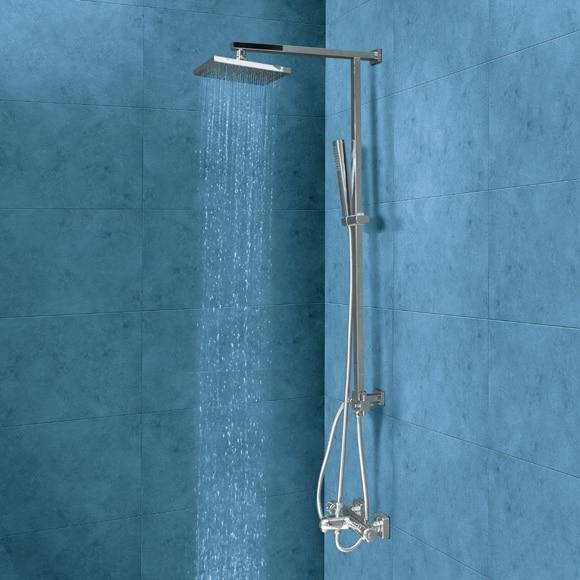 Conjunto de ducha sin grifo nix ref 16079623 leroy merlin for Ducha jardin leroy merlin