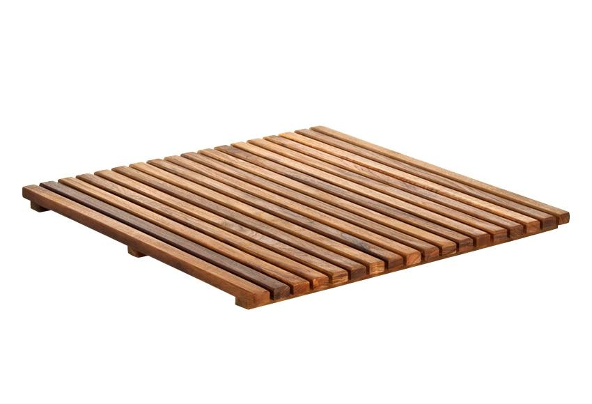Tarima de ba o cuadrada ref 14917651 leroy merlin - Listones madera leroy merlin ...