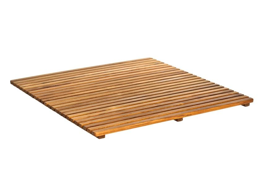 Tarima de ba o cuadrada ref 14917665 leroy merlin - Baldosas de madera para jardin ...