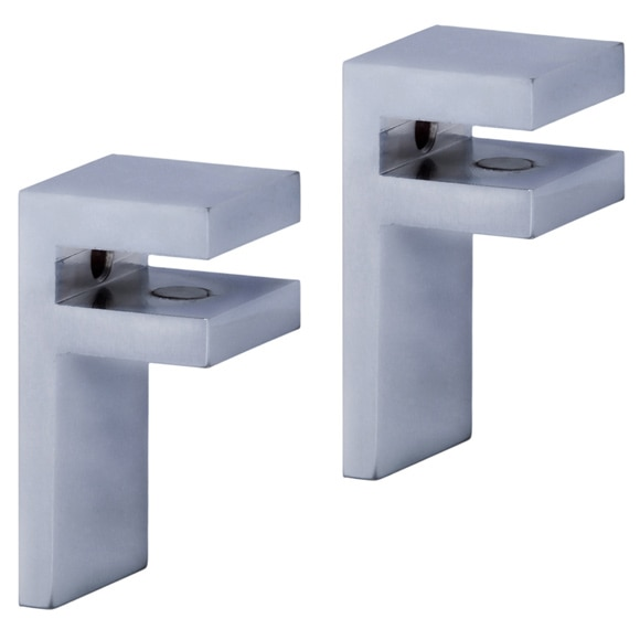 Soportes para estantes de cristal autofix ref 16109982 - Cristal grip leroy merlin ...