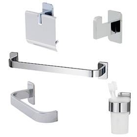 Accesorios de ba o de pared leroy merlin for Conjunto de accesorios de bano