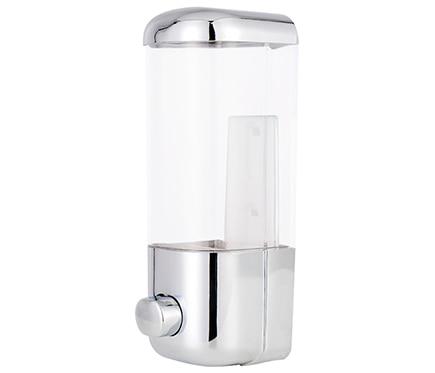 Dispensador de jab n abs cromo ref 13644036 leroy merlin for Dispensador jabon pared