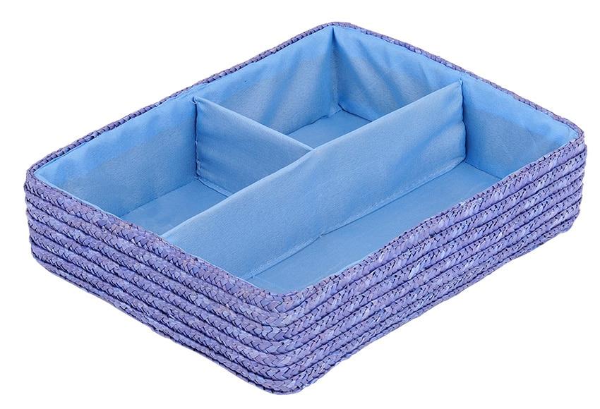 Organizador De Baño Casero:Organizador Trenzado Azul Ref 14963942 – Leroy Merlin