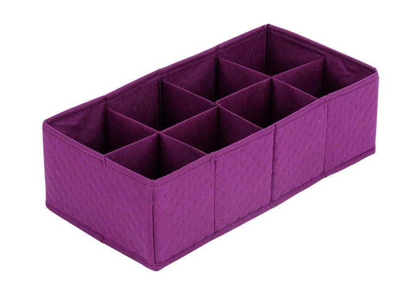 Organizador Cajones Baño:Organizador Tela violeta Ref 15434153 – Leroy Merlin