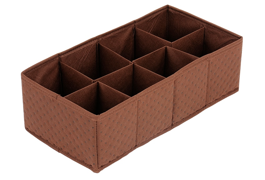 Organizador De Baño Tela:Organizador para cajón Tela Chocolate Ref 15434202 – Leroy Merlin