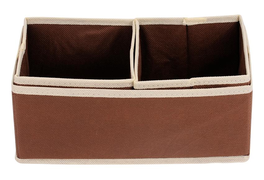 Set de 3 cestos canvas chocolate ref 15434230 leroy merlin - Canvas leroy merlin ...