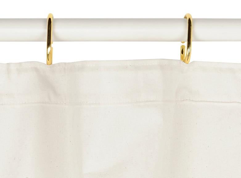 Anillas para cortina de ducha 12 uds dorada ref 15388611 - Cortinas ducha leroy merlin ...