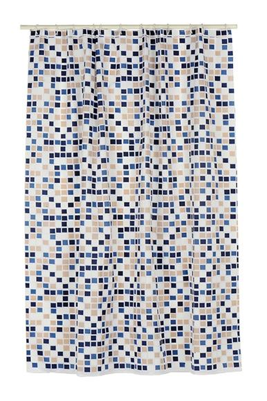 Cortinas De Baño Azul:Cortina de baño MOSAICO AZUL Ref 13277026 – Leroy Merlin