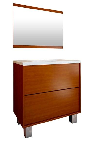 Conjunto de mueble de ba o dakota ref 14989352 leroy merlin - Muebles bano castellon ...