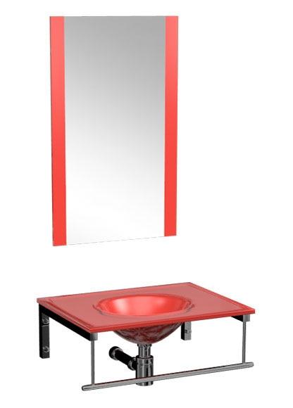 Muebles De Baño Rojos:mueble de bano encimera set davinia 60 cm rojo Ref 13893194 – Leroy