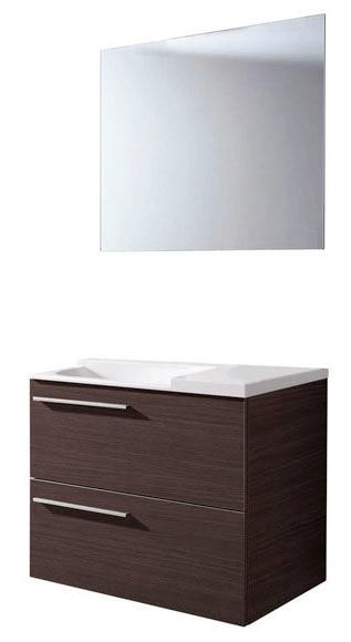 Muebles Baño Color Wengue:mueble lavabo mueble elea 70 cm wengue melamina Ref 16305072 – Leroy
