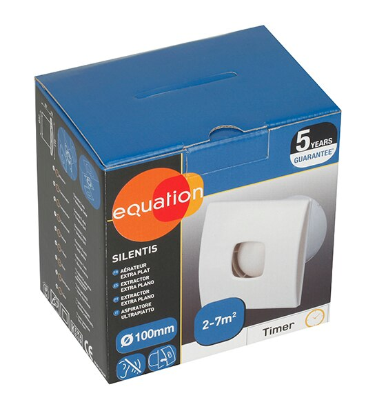 Extractor Baño Funcion:Extractor de baño Equation Silentis 100 Timer Ref 14171773 – Leroy