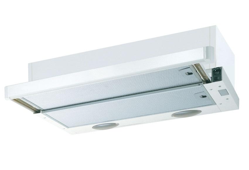 Campana extractora encastrable blanca deslizair ref 14767774 leroy merlin - Extractor humos cocina ...