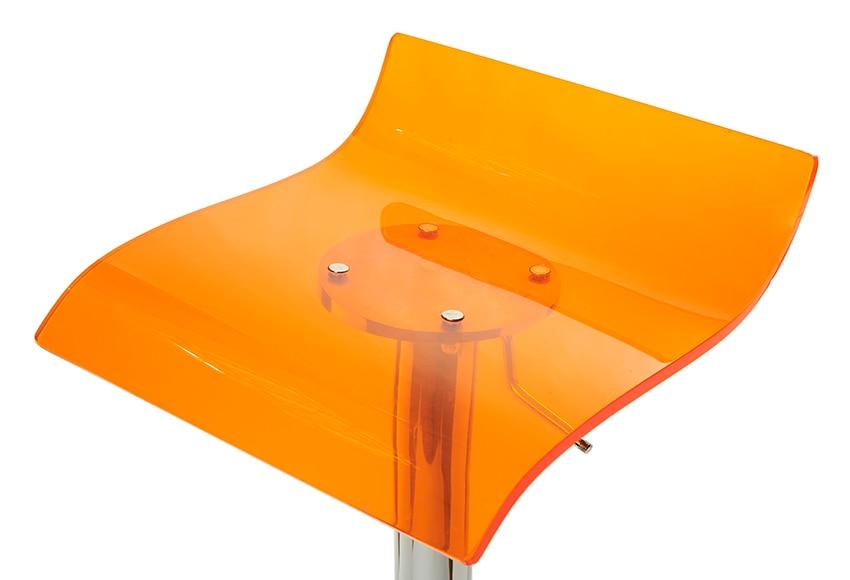 Asiento para taburete taburete naranja transparente ref 14136031 leroy merlin - Asientos para taburetes ...