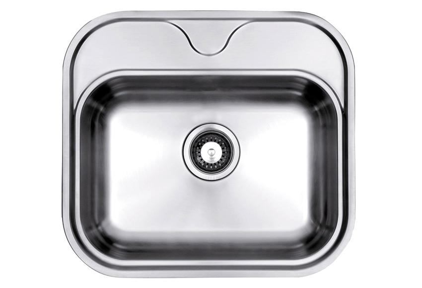 Fregadero brillo dis soft 45 ref 14165060 leroy merlin for Fregaderos de aluminio