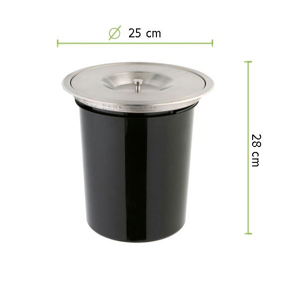 Cubo para interior 7 litros ref 13701646 leroy merlin for Cubo basura leroy merlin