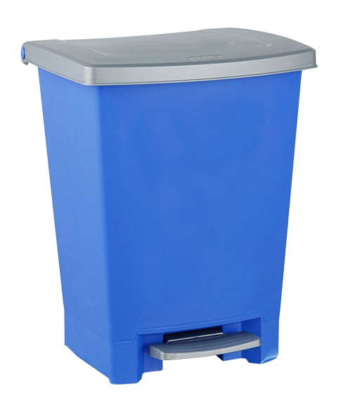 Cubo pedal 25 litros curver azul ref 14175980 leroy merlin - Cubos de basura industriales ...