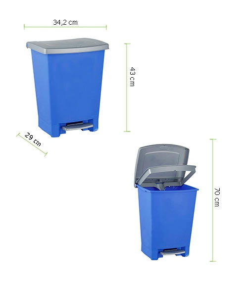 Cubo pedal 25 litros curver azul ref 14175980 leroy merlin for Cubo basura leroy merlin