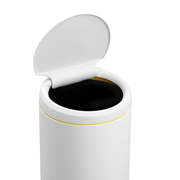 Cubo basura 30 litros brabantia flip bin blanco ref for Cubo basura leroy merlin