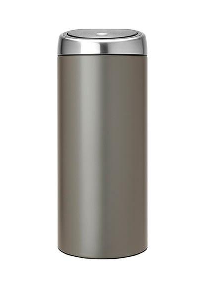 Cubo basura 30 litros brabantia touch bin platinum ref for Cubo basura leroy merlin