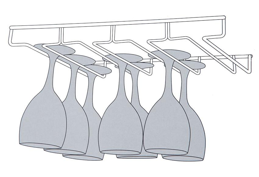 escurre copas metal gris bajo mueble ref 12072466 leroy