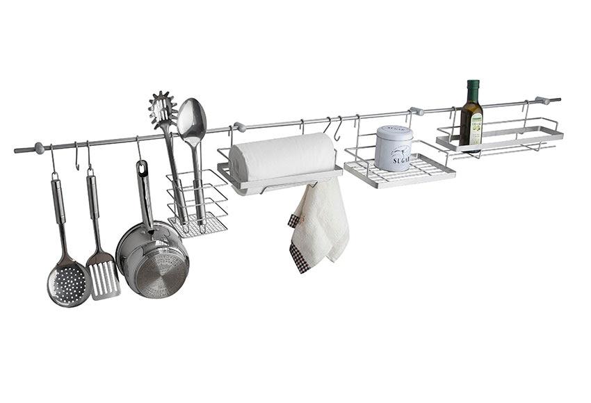 Kit de barra para colgar y accesorios ref 17929520 for Soporte utensilios cocina