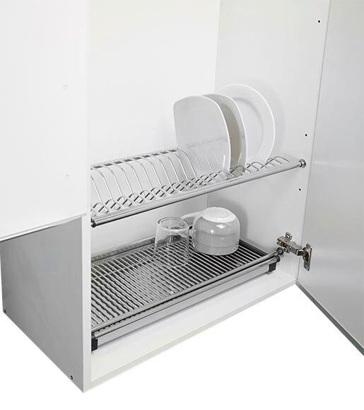 Escurreplatos vasos inox 60 cm ref 12330220 leroy merlin - Escurreplatos para muebles de cocina ...