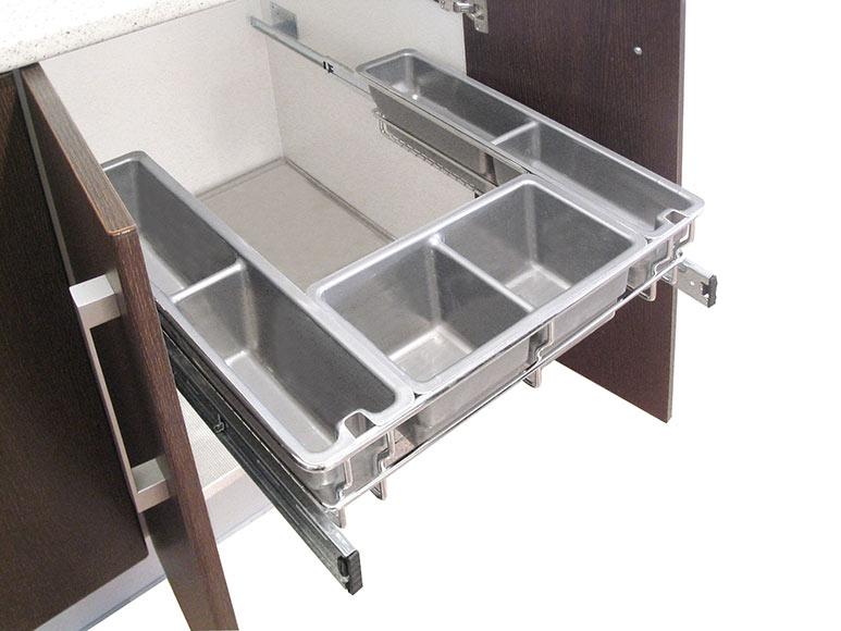 Accesorio extra ble bajo fregadero 60cm gu as ref for Accesorio extraible mueble cocina