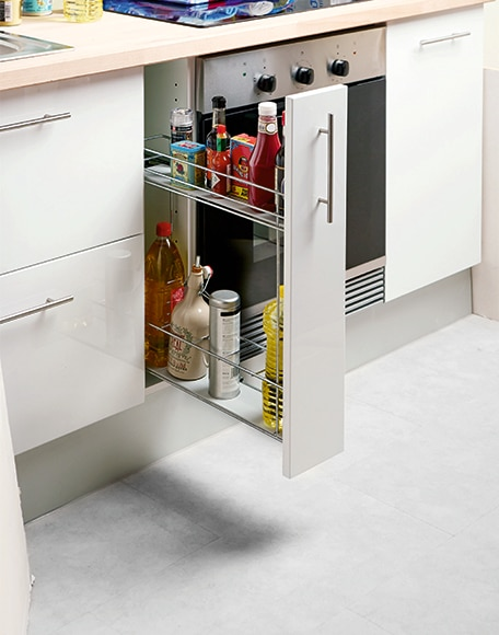 Accesorio extra ble con freno para mueble de 15 cm cr for Mueble 25 cm ancho